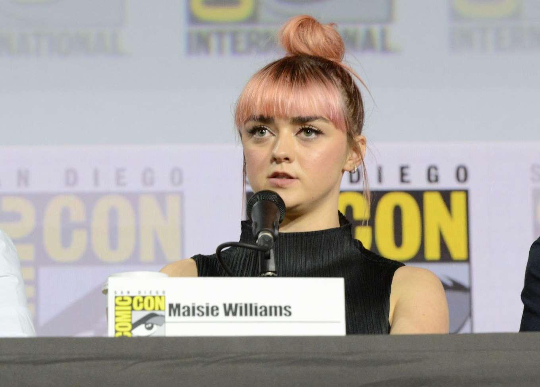 Maisie Williams 2019 : Maisie Williams – Game of Thrones Panel at Comic Con San Diego 2019-23