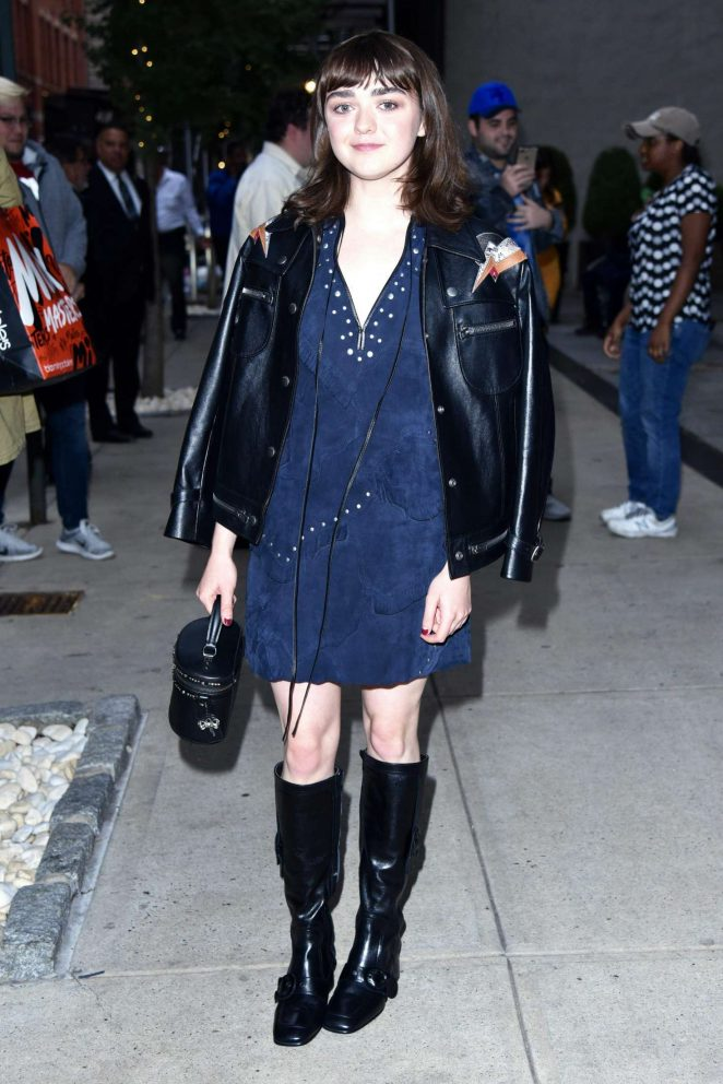 Maisie Williams in Mini Dress - Out in New York City