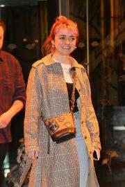 Maisie Williams - Leaving Marea Restaurant in New York