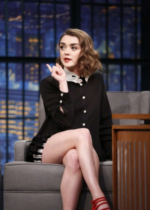 Maisie Williams on 'Late Night with Seth Meyers' in New York City