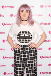 Maisie Williams - On the Lorraine TV show in London