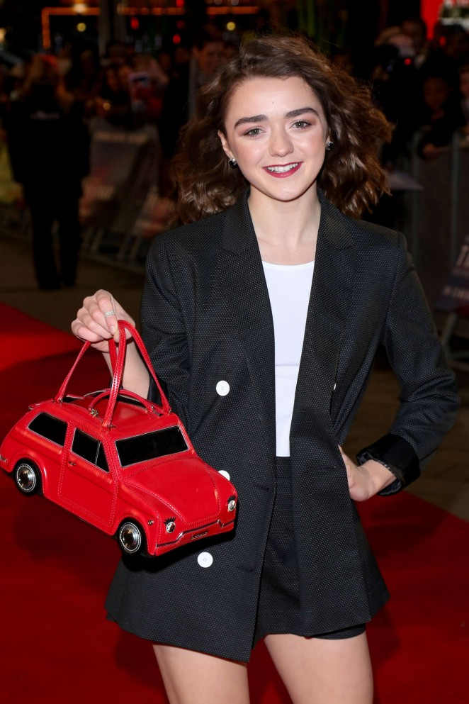 Maisie Williams - 'The Revenant' Premiere in London