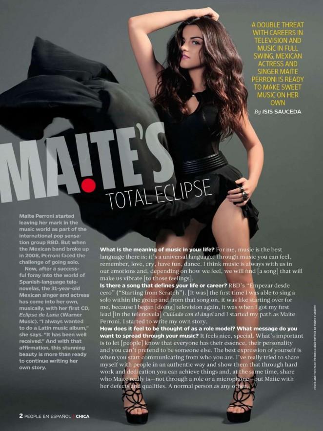 Maite Perroni - People en Espanol Chica Magazine (March 2015)