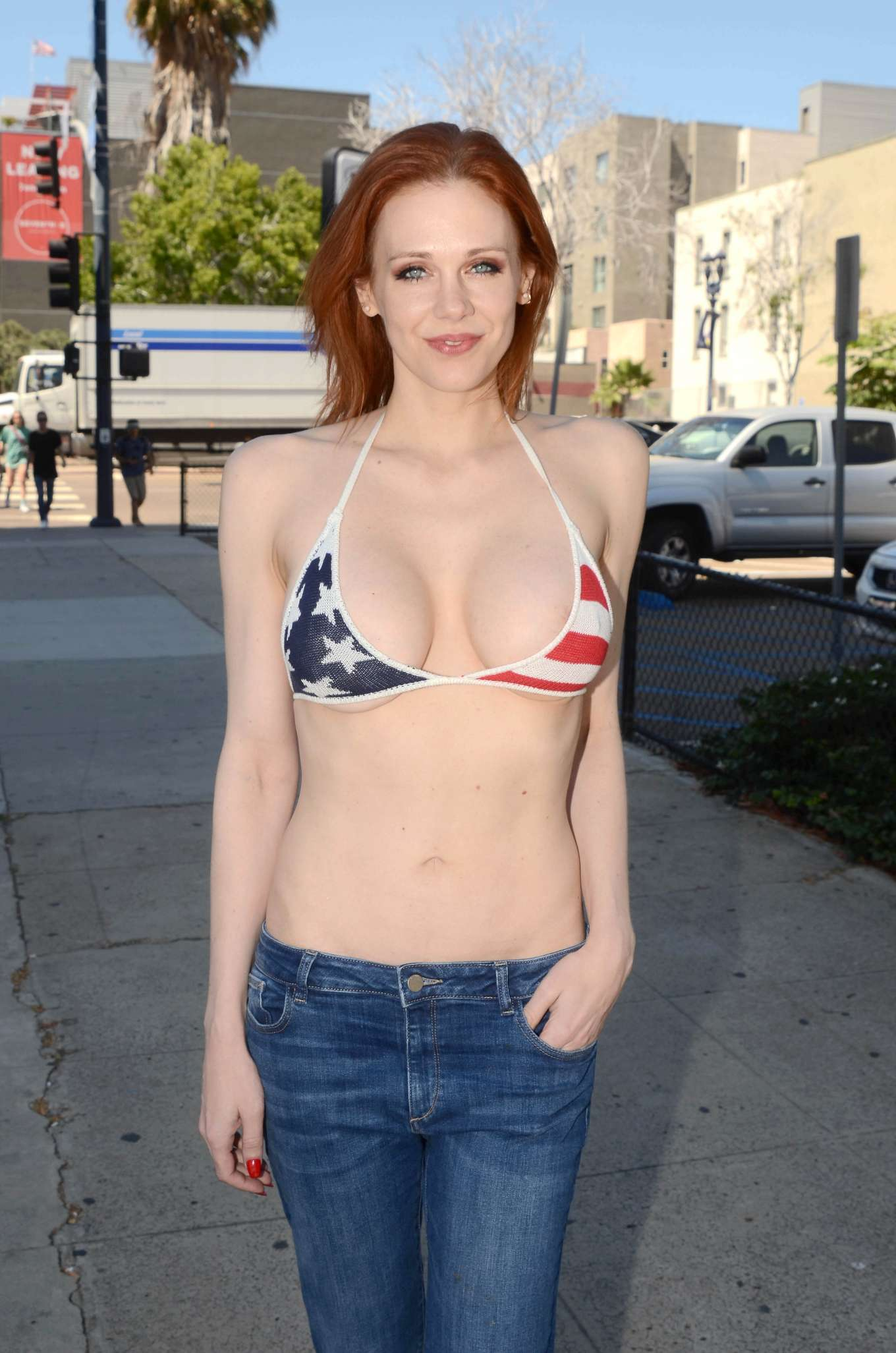 Maitland Ward at San Diego Comic Con 2019