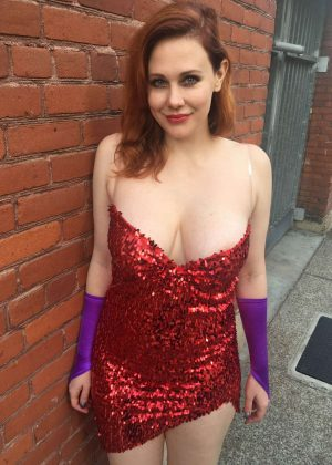 Maitland Ward - Comic-Con at the Batman v Superman experience in Los Angeles