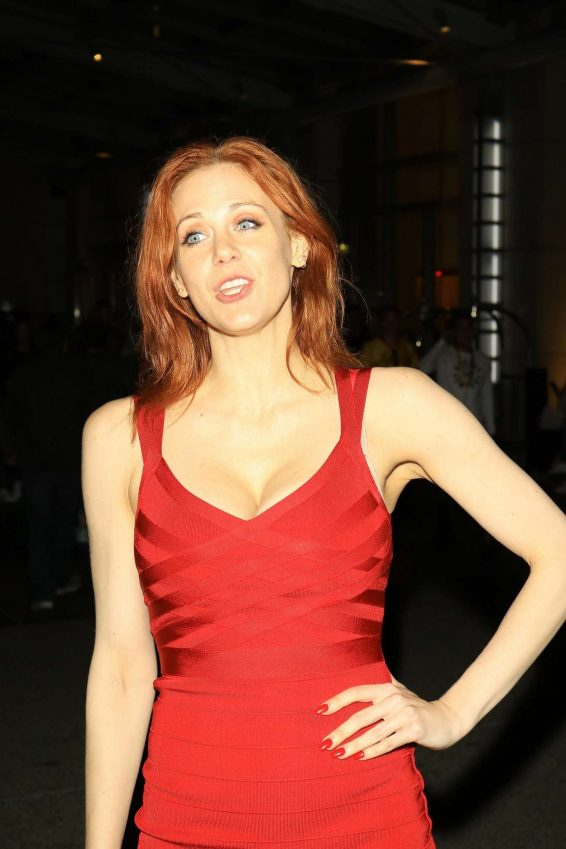Maitland Ward in Red Dress - Outside Comic Con in San Diego
