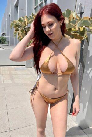 Maitland Ward - Posing in a bikini