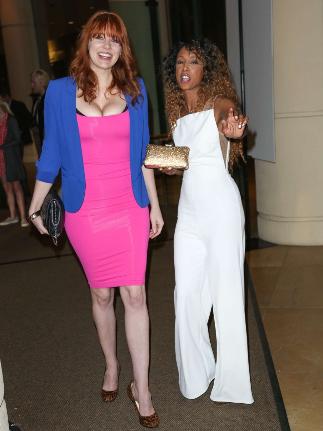 Maitland Ward & Trina McGee – Night out in Beverly Hills