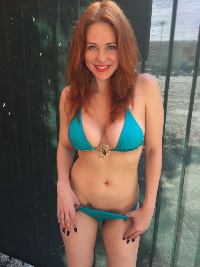 Maitland Ward in Blue Bikini -01