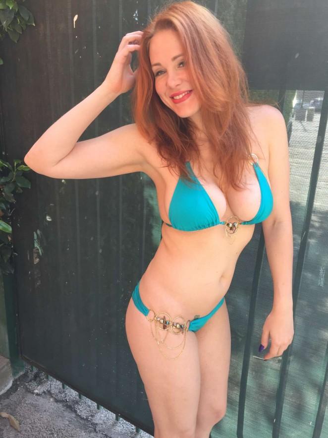 Maitland Ward in Blue Bikini -02