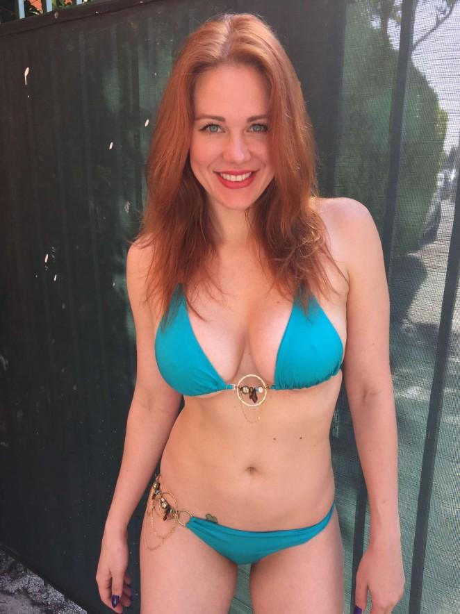 Maitland Ward in Blue Bikini -04