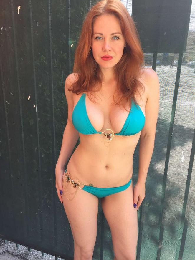 Maitland Ward in Blue Bikini -06