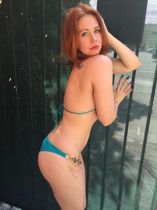 Maitland Ward in Blue Bikini -08