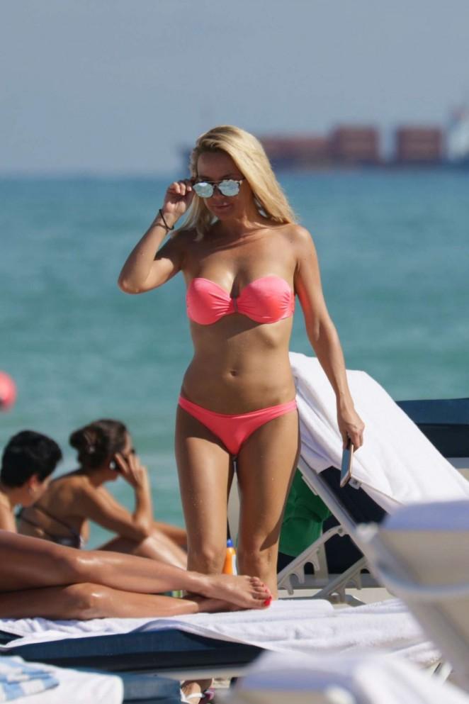 Maja Suput in Pink Bikini in Miami