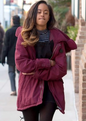 Malia Obama Arriving at the Weinstein Company in NY