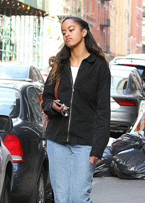 Malia Obama out for walk in New York City