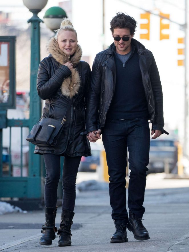 Malin Akerman and boyfriend Jack Donnelly out in New York