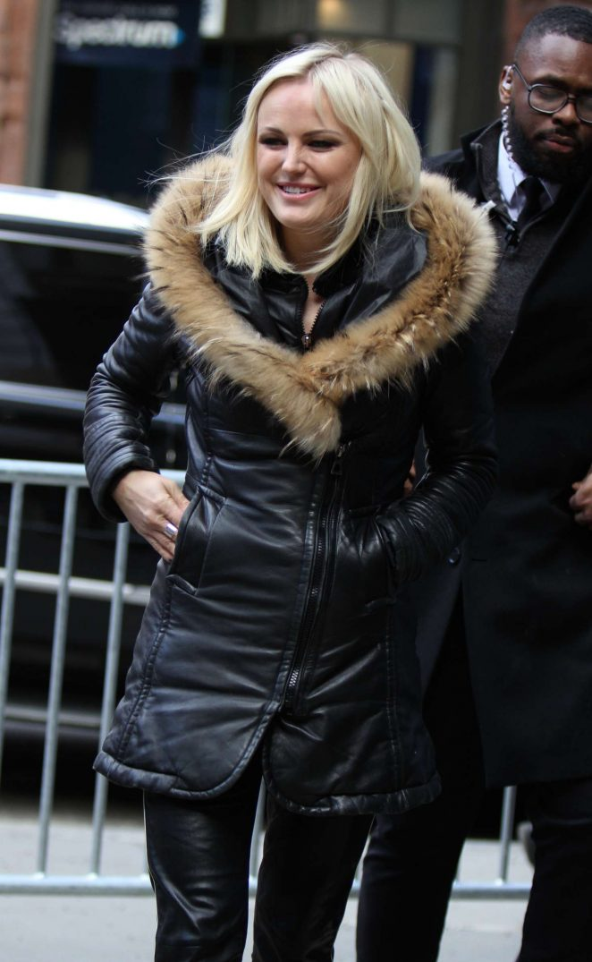 Malin Akerman - Arriving at the AOL Build Series in NYC