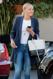 Malin Akerman at Il Pastaio with friends in Beverly Hills
