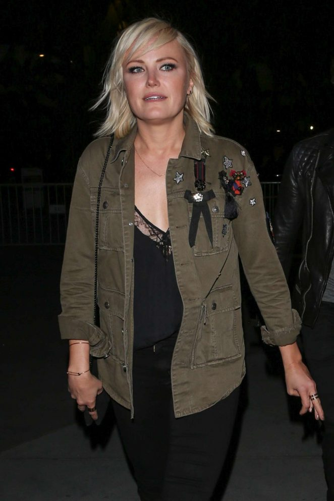 Malin Akerman at Red Hot Chili Peppers concert at the Staples Center in Los Angeles