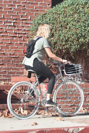 Malin Akerman - Bike ride near her Los Feliz home