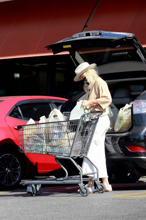 Malin Akerman - Grocery shopping at Gelson's Market in Los Feliz