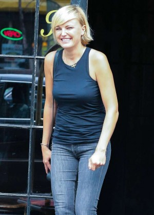 Malin Akerman in Jeans Leaves Bowery Hotel in NYC