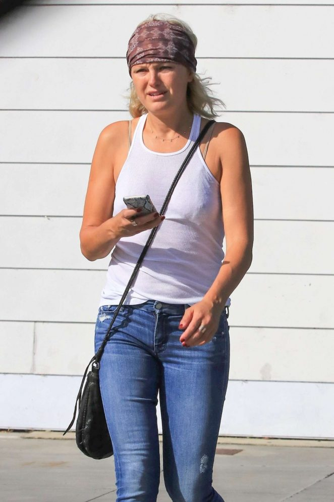 Malin Akerman in Jeans out in Los Feliz