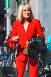 Malin Akerman in Red Outfit - Out in NYC