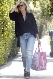 Malin Akerman in Ripped Jeans - Out in Beverly Hills