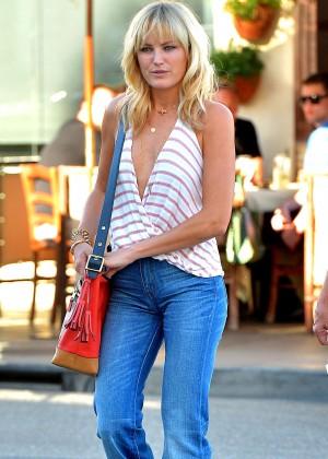 Malin Akerman in Jeans Leaves Il Pastaio in LA