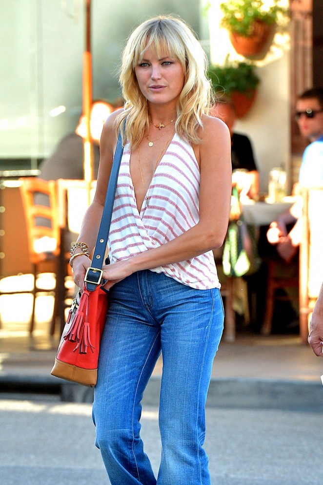 Malin Akerman in Jeans Leaves Il Pastaio in LA