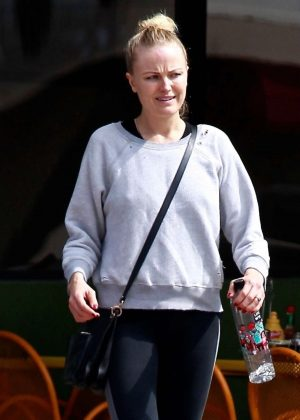 Malin Akerman - Leaves the gym in Los Angeles