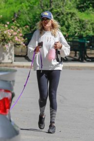 Malin Akerman - On a solo hike with her dog at Griffith Park in Los Angeles