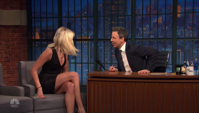 Malin Akerman on 'Late Night with Seth Meyers' in New York City