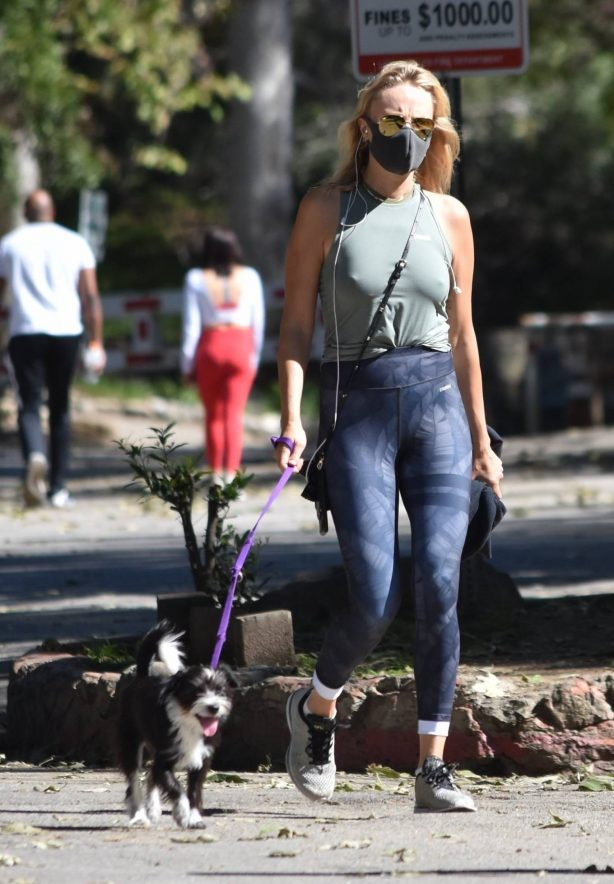 Malin Akerman - Walk with her dog in Los Feliz