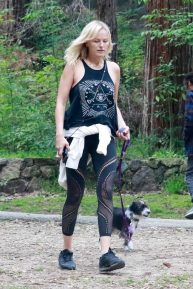 Malin Akerman - Walking her dog at Griffith Park in Los Angeles
