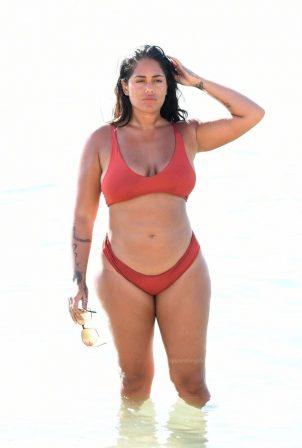 Malin Andersson - In a bikini on the beach in Dubai