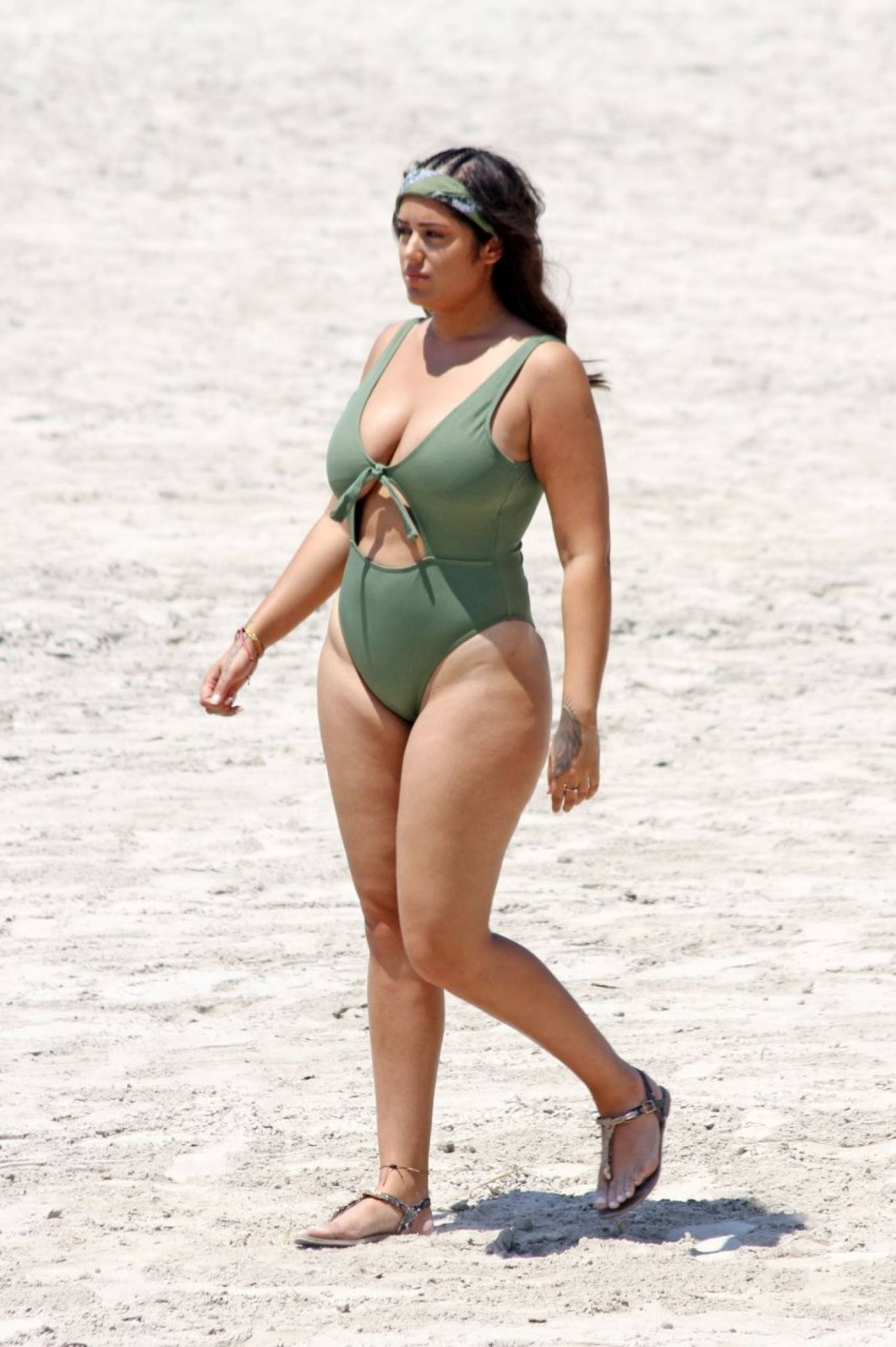 Malin Andersson 2021 : Malin Andersson – In olive bikini at the beach on holiday in Palma-03