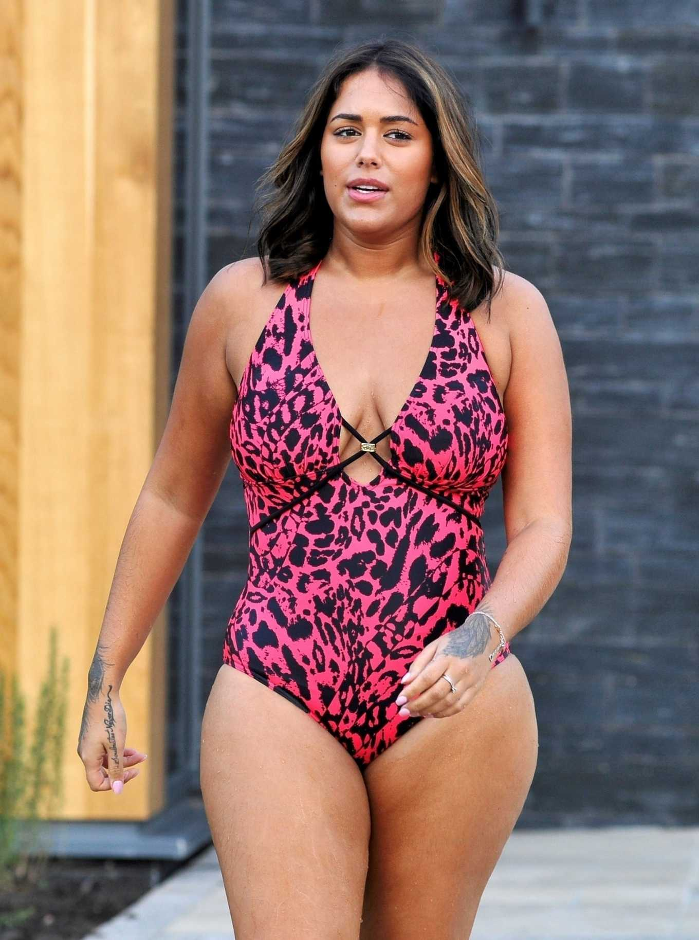Malin Andersson in Swimsuit at Carden Park Spa in Chester