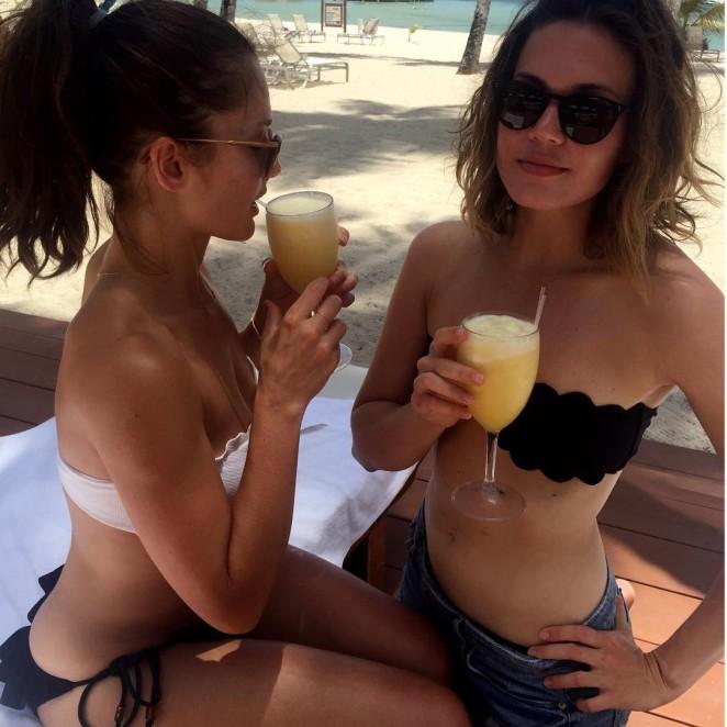 Mandy Moore and Minka Kelly in Bikini in the Dominican Republic