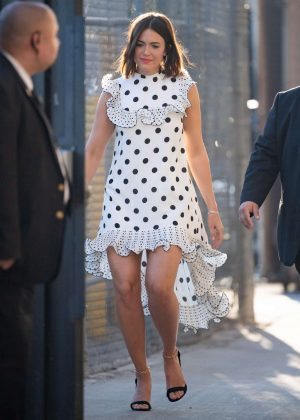 Mandy Moore - Arrives at 'Jimmy Kimmel Live' in Hollywood