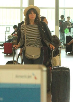 Mandy Moore at Airport in Barcelona