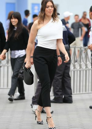 Mandy Moore at Extra Set in Universal City