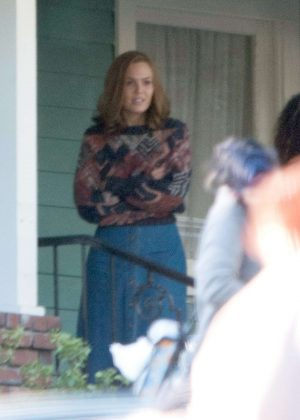 Mandy Moore - Filming 'This is Us' set  in LA
