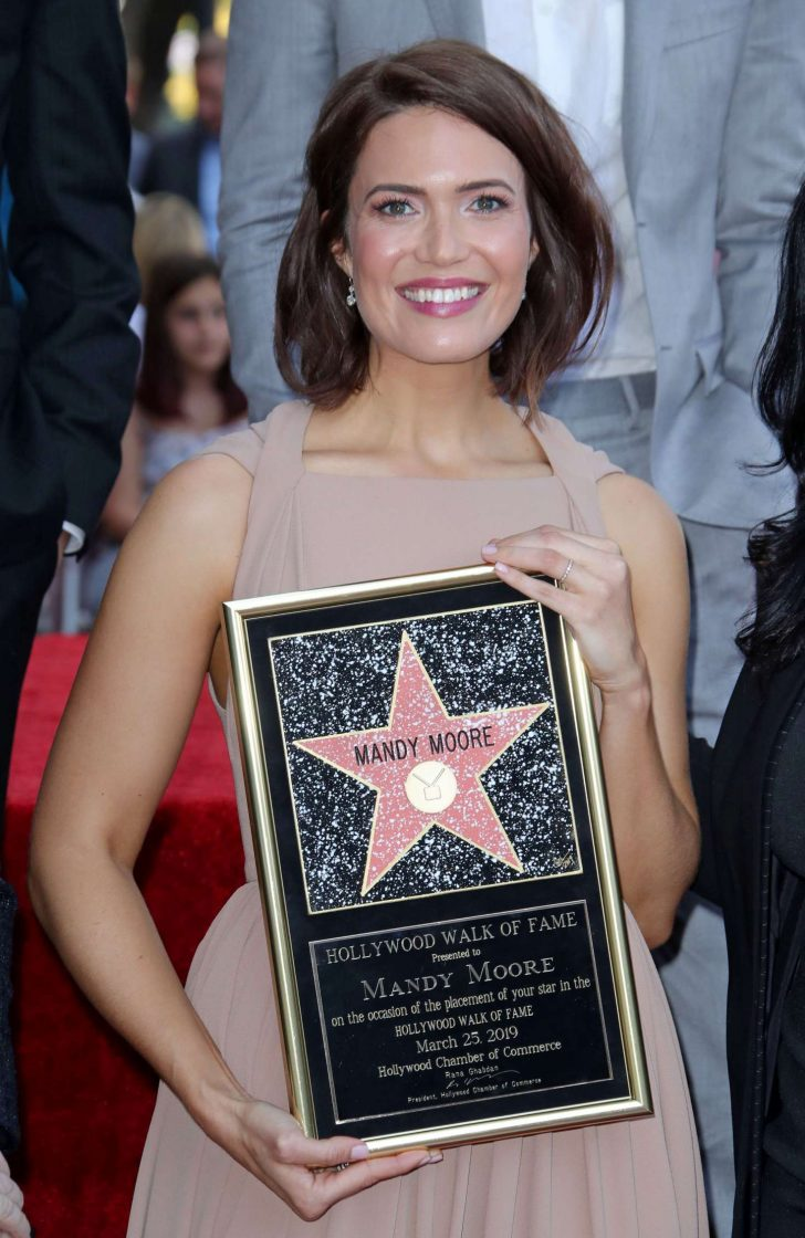 Mandy Moore - Getting her star on the Hollywood Walk Of Fame in LA