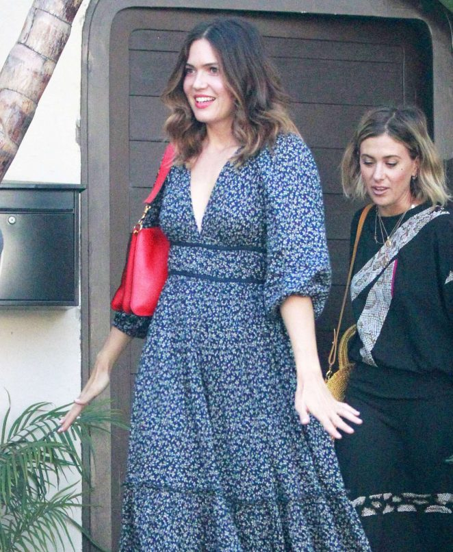 Mandy Moore in Floral Dress out in Beverly Hills