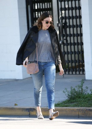 Mandy Moore in Jeans out in Beverly Hills