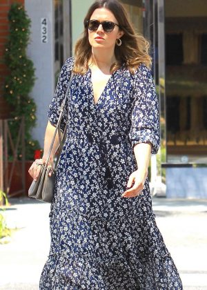 Mandy Moore in Long Dress out in Beverly Hills