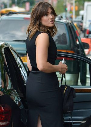 Mandy Moore in Tight Black Dress out in New York